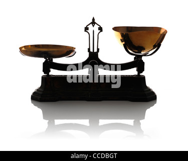 Old vintage balance scales - Stock Photo