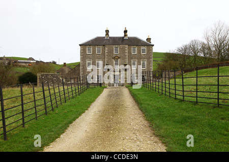 Castern Hall is a privately owned 18th century country house home situated in the Manifold Valley near Ilam Staffordshire, - Stock Photo