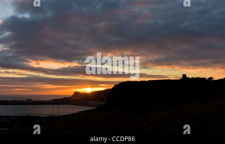 Dover sunset - Stock Photo