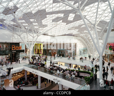 WESTFIELD LONDON SHOPPING MALL INTERIOR ATRIUM - Stock Photo