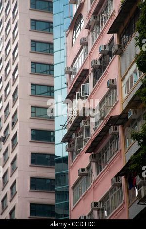 Flats in kowloon hong kong with air conditioning units stock photo royalty free image - Air china hong kong office ...