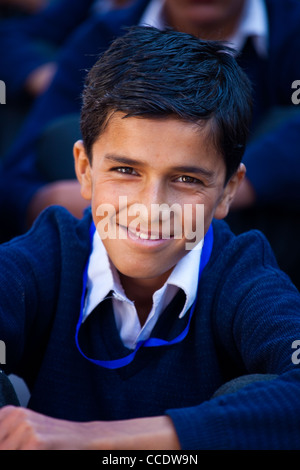 Schoolboy in a Government School in Murree, Punjab Province, Pakistan - Stock Photo