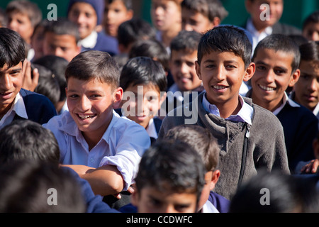 Assembly at a Government School in Murree, Punjab Province, Pakistan - Stock Photo