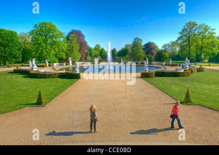 A view from the step's of Sanssouci Palace Potsdam Germany. Picture by Pete Gawlik. - Stock Photo