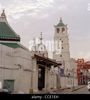 The Muslim Kampung Kling Mosque building in Malacca Melaka in Malaysia in Far East Southeast Asia. Islamic Architecture - Stock Photo