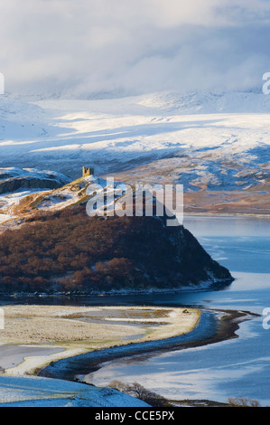 Castle Varrich near Tongue, Sutherland, Scotland. - Stock Photo