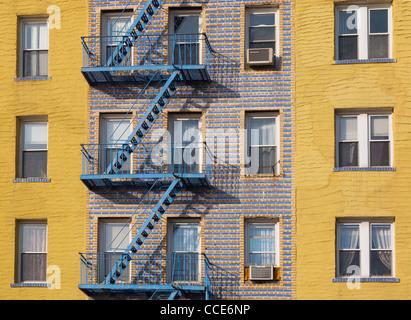 fire escape on building - Stock Photo