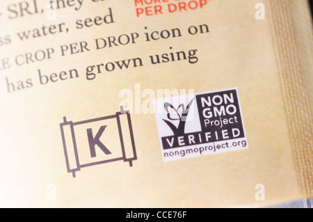 Kosher And Non Gmo Signs On Food Package Stock Photo 42109611 Alamy
