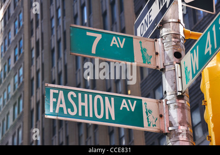Fashion avenue street sign 82