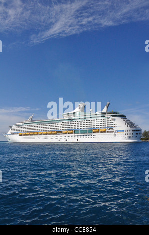 Explorer of the Seas, Royal Caribbean cruise ship in port, Nassau, Bahamas - Stock Photo
