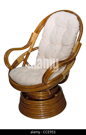 Rocking chair isolated on white background - Stock Photo