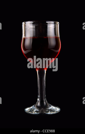 red wine on black background - Stock Photo