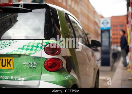 Smart electric drive car in London, UK - Stock Photo