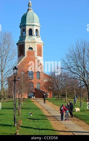Royal Victoria Country Park chapel - Stock Photo
