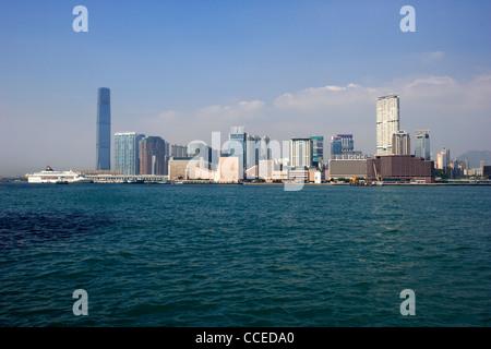 victoria harbour view of kowloon tsim sha tsui skyline hong kong hksar china asia