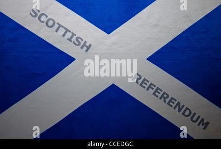 Scottish Independence referendum saltire flag - Stock Photo