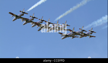 The Frecce Tricolori Italian jet aircraft display team at RIAT 2011 - Stock Photo