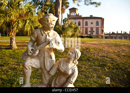 Ca' d'Zan, mansion Sarasota, Florida built in 1924-1926 by John Ringling, founder of the Ringling Brothers Circus - Stock Photo