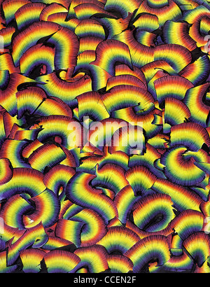 Picture painted by me, named 'Chromatic Activity', it shows a full frame abstract multicolored prime pattern - Stock Photo