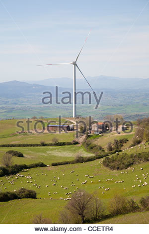 wind turbines,wind farm of scansano,scansano,province of grosseto,tuscany,italy,europe - Stock Photo