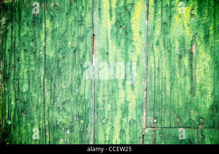 abstract foreground an old wooden door - Stock Photo