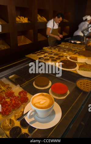 Coffee and cakes Princi cafe baker's shop Milan Lombardy region Italy Europe - Stock Photo