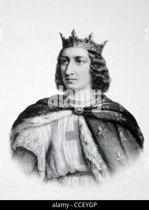 French King Louis IX, called Saint Louis (1214-70), King of France (1226-70) - Stock Photo