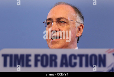 Michael Howard speaks to Conference on the last day of the Spring Conference in Brighton. Picture by James Boardman. - Stock Photo