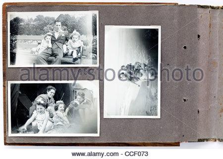 family photo album page 1950 - Stock Photo