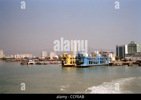 The Butterworth to Penang Island Ferry service In Malaysia in Far East Southeast Asia. Backpacking Tourism Tourist - Stock Photo