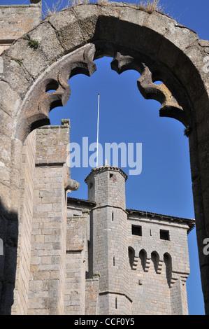 abbey detailsurban Haute-Loire Auvergne France - Stock Photo