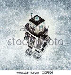 fine art retro tin robot - Stock Photo