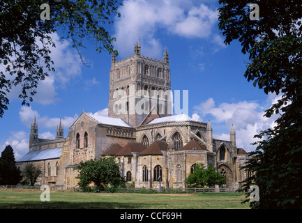 Tewkesbury Abbey church Gloucestershire South West England UK