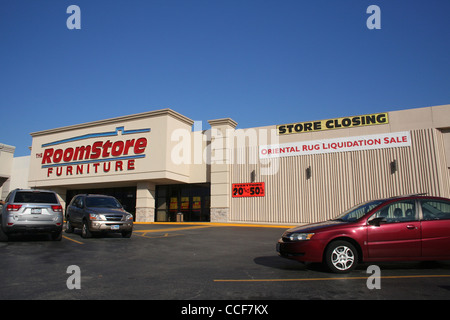 the roomstore furniture store closing sale tyler tx january stock photo