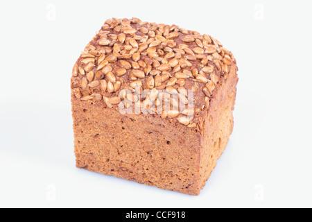 wholegrain bread isolated white background - Stock Photo