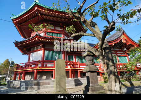 Benten Do Temple located on the island of Shinobazu pond in Famous Ueno park area, Tokyo Japan - Stock Photo