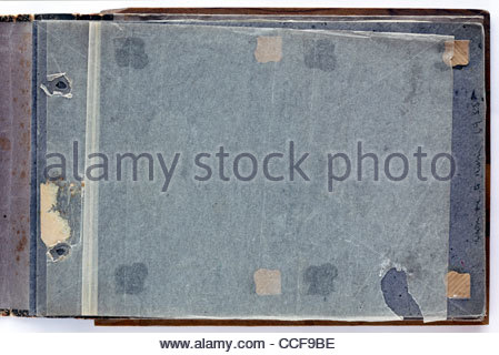 photo album page with missing images - Stock Photo