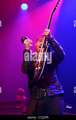 Dec 10, 2010 - San Jose, California, U.S. - Vocalist/guitarist DAN AUERBACH of 'The Black Keys' performing live - Stock Photo