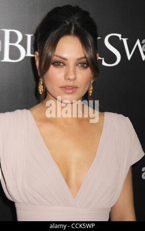 Nov. 30, 2010 - New York, New York, U.S. - Actress MILA KUNIS attends the New York premiere of 'Black Swan' held - Stock Photo