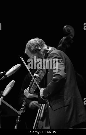 Nov. 18, 2010 - Austin, Texas, U.S. - Ornette Coleman live at Bass Hall in Austin Texas on 11/182010 with Tony Falanga - Stock Photo