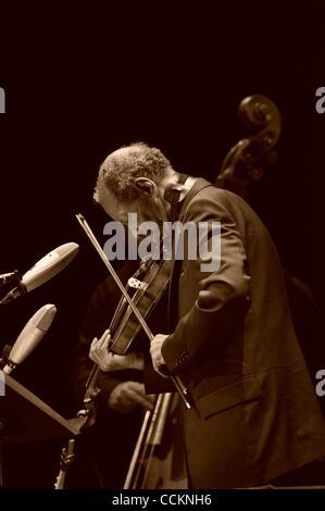 Nov. 18, 2010 - Austin, Texas, U.S. - Ornette Coleman live at Bass Hall on 11/18/2010 with Tony Falanga on upright - Stock Photo
