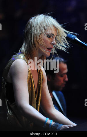 Oct. 29, 2010 - New Orleans, Louisiana, United States of America - Metric lead singer Emily Haines performs on the - Stock Photo