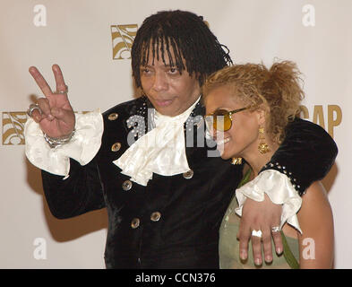June 28, 2004; Beverly Hills, CA, USA;  RICK JAMES (L) and his daughter TY JAMES at the 17th Annual ASCAP Rhythm - Stock Photo