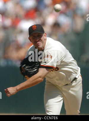 San Francisco Giants starting pitcher Kirk Rueter in the 7th inning of their game with the New York Mets at SBC - Stock Photo