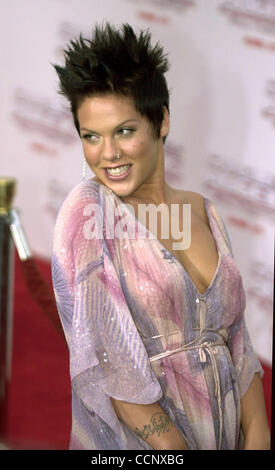Jun 18, 2003; Hollywood, CA, USA; Singer PINK @ the premiere of 'Charlie's Angels: Full Throttle' in Hollywood. - Stock Photo