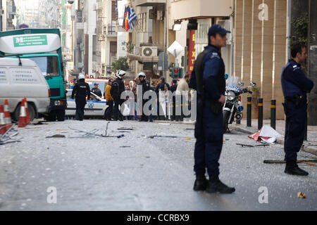 Mar. 19, 2010 - Athens, Greece - Bomb blast at the offices of extreme right wing-group ''Chryssi Avghi' (Credit - Stock Photo