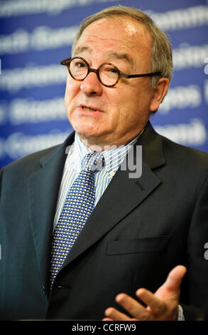 French Jean-Jacques Dordain the European Space Agency (ESA) Director General   during  a news conference at the - Stock Photo