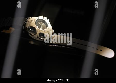 Mar 23, 2010 - Basel, Switzerland - A WELDER watch is displayed at the exhibition stand of the Baselworld 2010 watch - Stock Photo