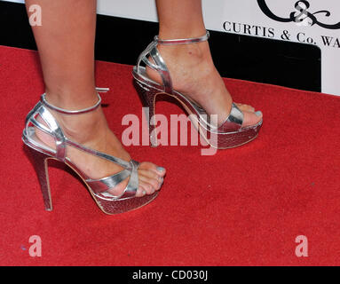April 13, 2010 - Las Vegas, Nevada, USA -  Television personality/model HOLLY MADISON (shoe detail) arrives at the - Stock Photo