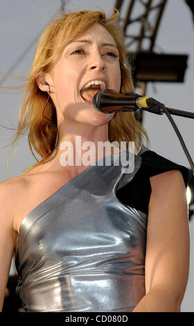 April 27, 2008; Indio, CA, USA; Musician EMILY HAINES, of 'Metric,' performing during the 2008 Coachella Valley - Stock Photo